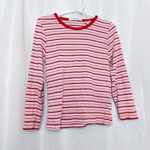 George Girl's Striped Long Sleeve Top Size 6